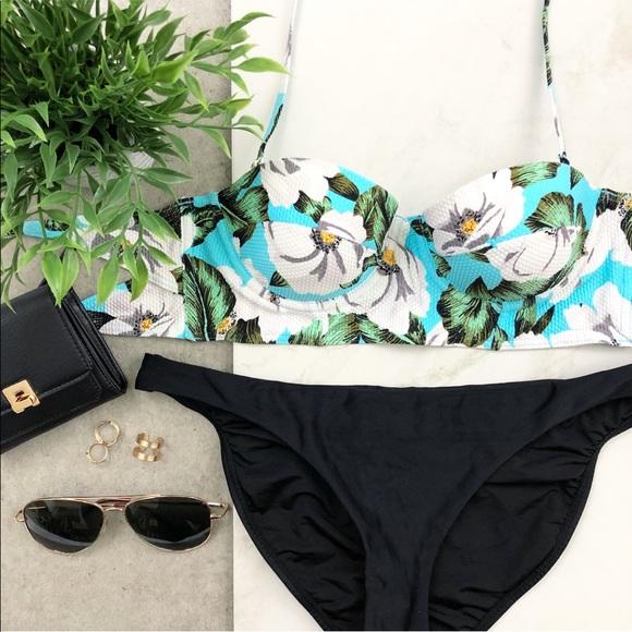 e1af4aea6aed1 Topshop Floral Print Cupped Bikini Bra Top